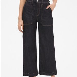 High Rise Utility Wide-Leg Jeans size 30 NWOT